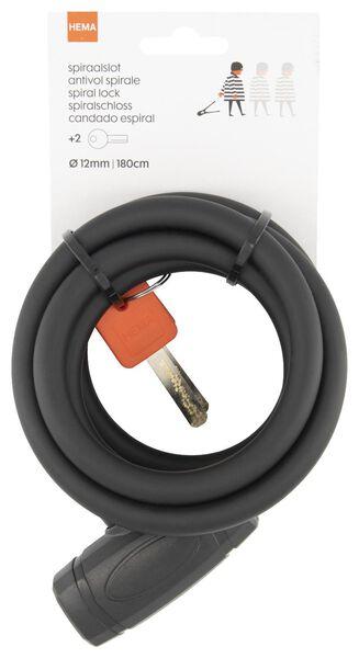 spiraalslot 180 cm Ø 12 mm - zwart - 41110031 - HEMA