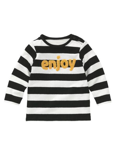 baby t-shirt zwart/wit zwart/wit - 1000008845 - HEMA