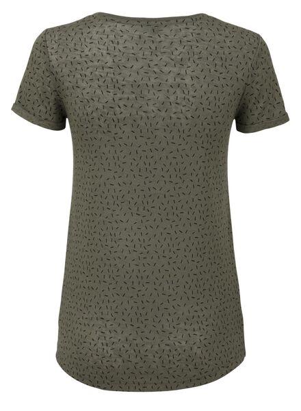 dames t-shirt olijf olijf - 1000008304 - HEMA