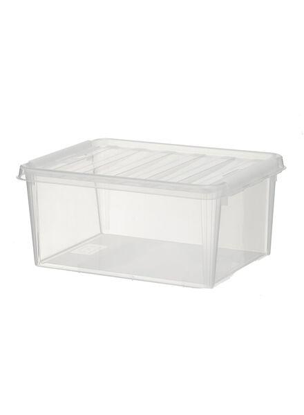 opbergbox 40 x 30 x 19 cm 40 x 30 x 19 transparant - 39819501 - HEMA