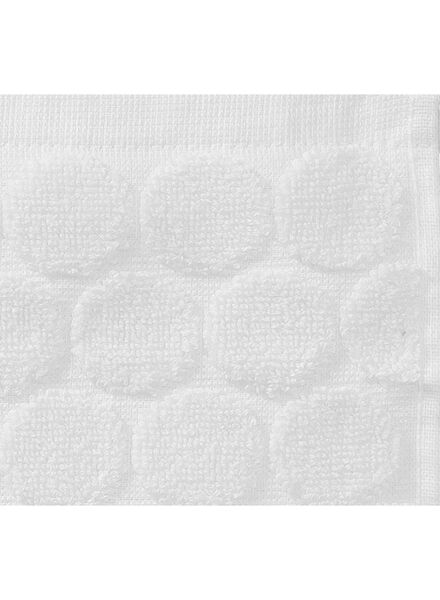 handdoek - 50 x 100 cm - zware kwaliteit - wit gestipt - 5240170 - HEMA