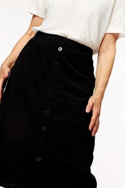 dames doorknooprok zwart zwart - 1000024346 - HEMA
