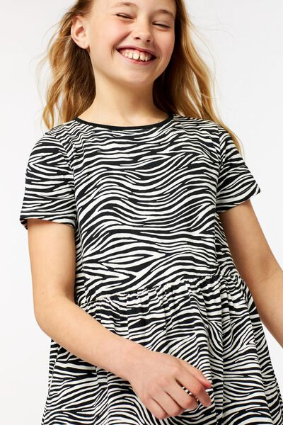 kinderjurk zebra gebroken wit 122/128 - 30870578 - HEMA