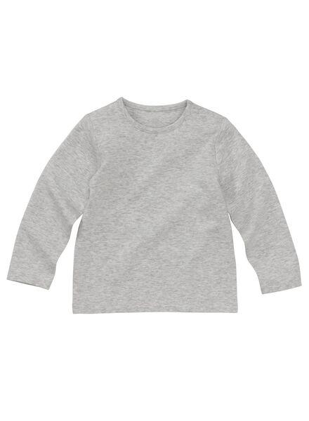 baby t-shirt bamboe grijsmelange grijsmelange - 1000011957 - HEMA