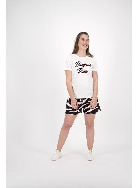 dames t-shirt gebroken wit gebroken wit - 1000013894 - HEMA