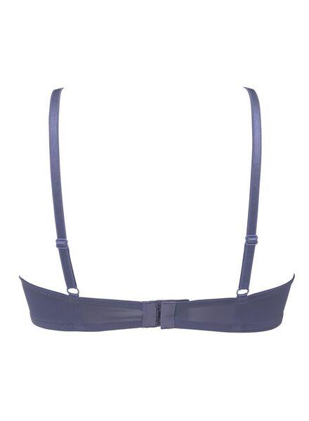 padded t-shirt bh micro blauw blauw - 1000011851 - HEMA