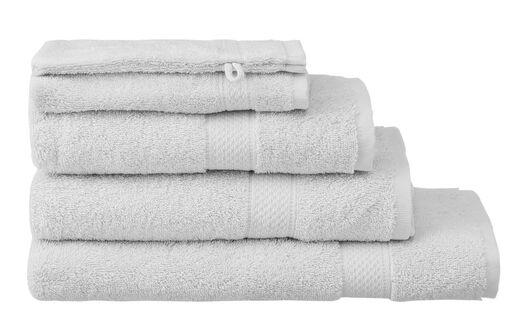 handdoeken - zware kwaliteit lichtgrijs lichtgrijs - 1000015168 - HEMA