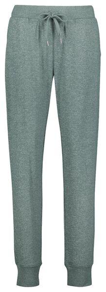 dames pyjamabroek viscose groen S - 23422071 - HEMA