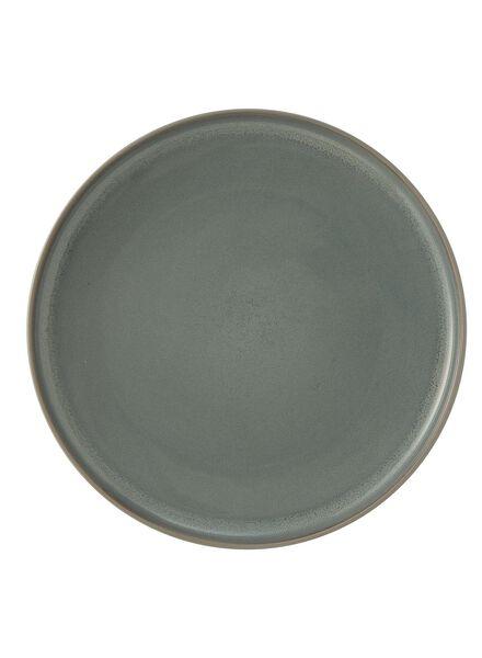 dinerbord - 26.5 cm - reactief glazuur - grijs/groen - 9670090 - HEMA