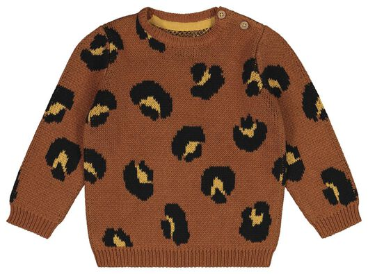 babytrui luipaard bruin bruin - 1000021392 - HEMA
