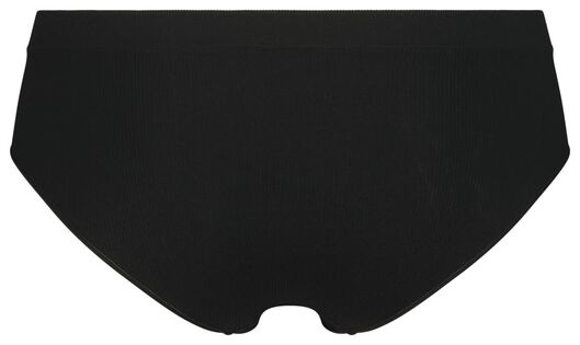 dameshipster rib naadloos zwart zwart - 1000021762 - HEMA
