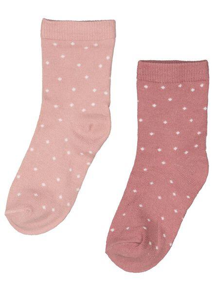 2-pak babysokken met bamboe roze roze - 1000015030 - HEMA