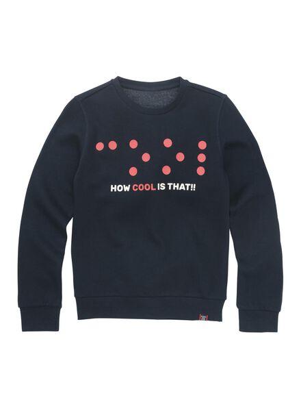 kindersweater donkerblauw donkerblauw - 1000011025 - HEMA