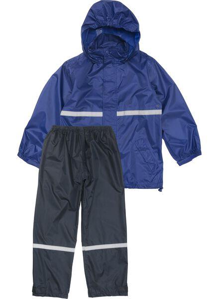 kinderregenpak blauw blauw - 1000006267 - HEMA