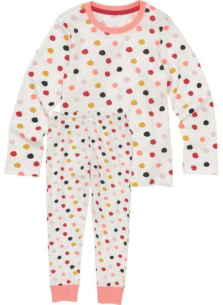 kinderpyjama gebroken wit gebroken wit - 1000011770 - HEMA