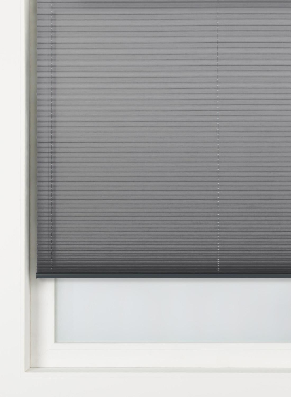 HEMA Pliss�gordijn Uni Transparant 20 Mm Grijs (grijs)