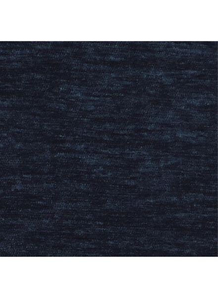 kussenhoes - 50 x 50 - blauw velours - 7392026 - HEMA