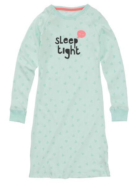 kinder nachthemd mintgroen mintgroen - 1000009700 - HEMA