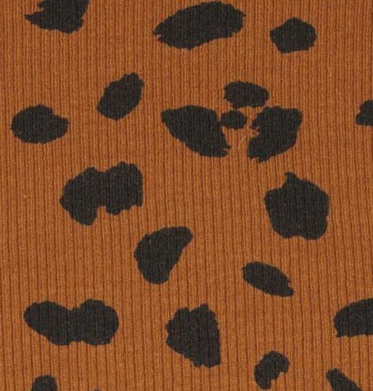 kinder t-shirt rib bruin - 1000019953 - HEMA