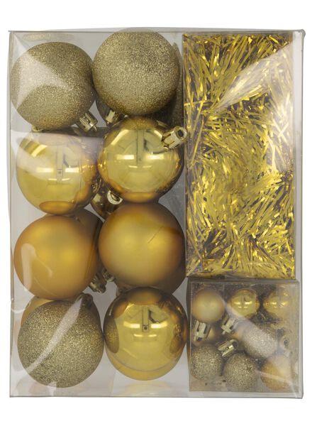 kerstboom decoratieset goud 54-delig - 25100929 - HEMA