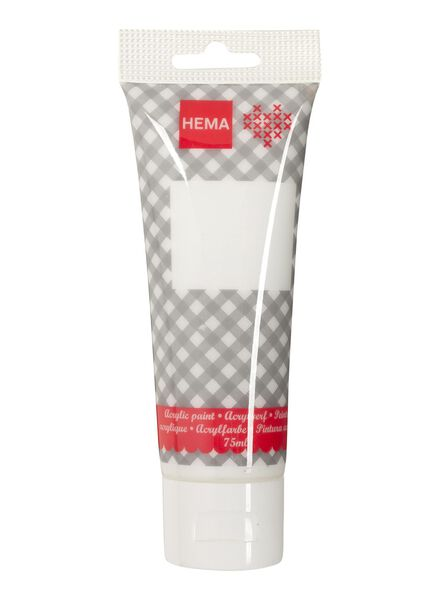 acrylverf wit 75 ml - 15921007 - HEMA