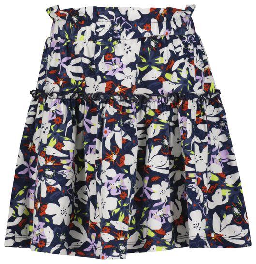 kinder rok bloemen donkerblauw donkerblauw - 1000023799 - HEMA