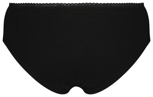 dameshipster - 3 stuks zwart XL - 19612854 - HEMA