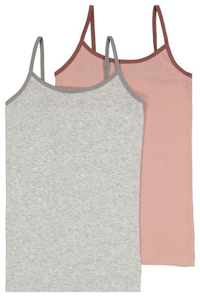 kinderhemden rib - 2 stuks multi multi - 1000022944 - HEMA