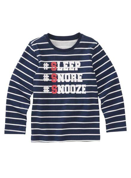 kinderpyjama donkerblauw 122/128 - 23087633 - HEMA