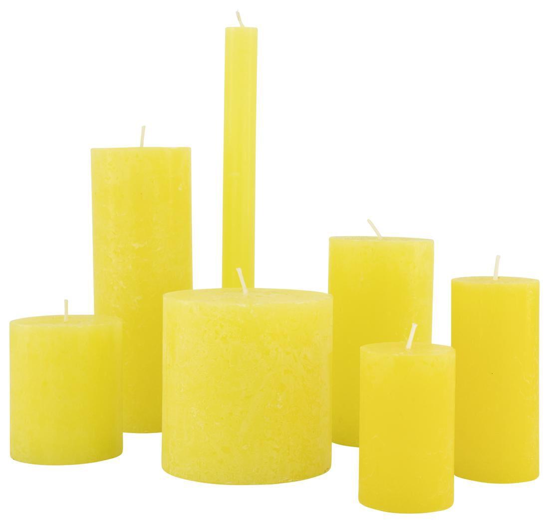 HEMA Rustieke Kaarsen Geel (geel)