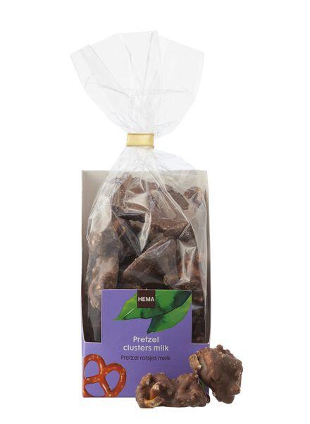 pretzel rotsjes melkchocolade - 10311030 - HEMA