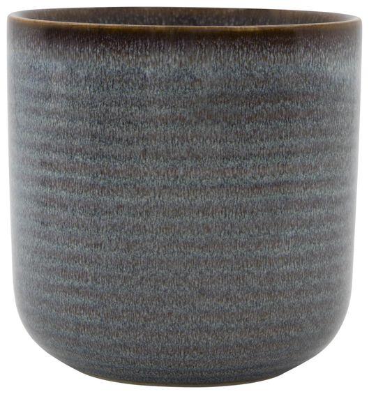 bloempot Ø11x11.5 aardewerk reactief glazuur 11.5 x 11 naturel - 13311045 - HEMA
