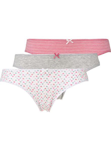 3-pak damesslips roze roze - 1000007841 - HEMA