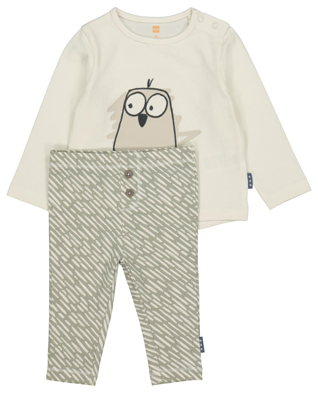 HEMA Newborn Setje T-shirt En Broek Groen (groen)