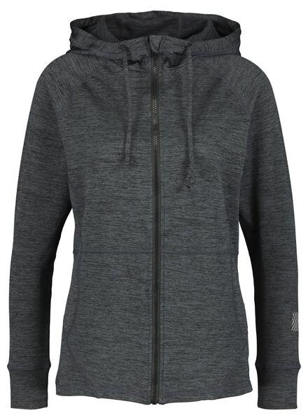dames sportvest grijsmelange grijsmelange - 1000015352 - HEMA