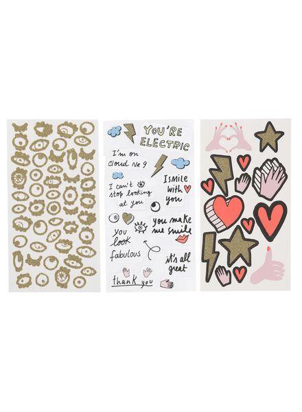 3-pak stickers - 14160102 - HEMA