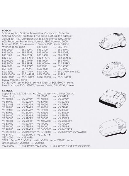 4-pak stofzuigerzakken Bosch/Siemens - 20560305 - HEMA