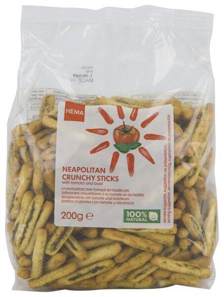 Crunchy sticks met tomaat en basilicum 200gram
