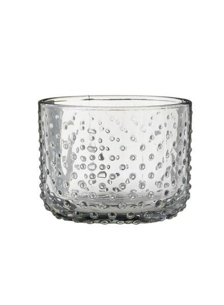 kaarshouder - 6.5 x 8.5 cm - transpirant glas stip - 13380022 - HEMA