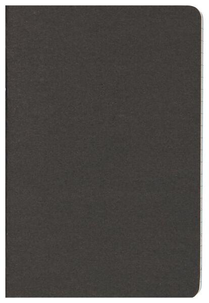 schriften zwart A6 gelinieerd - 3 stuks - 14102924 - HEMA