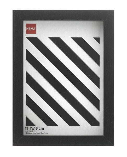 fotolijst - hout - zwart 12.7 x 19 12.7 x 19 zwart - 13691019 - HEMA