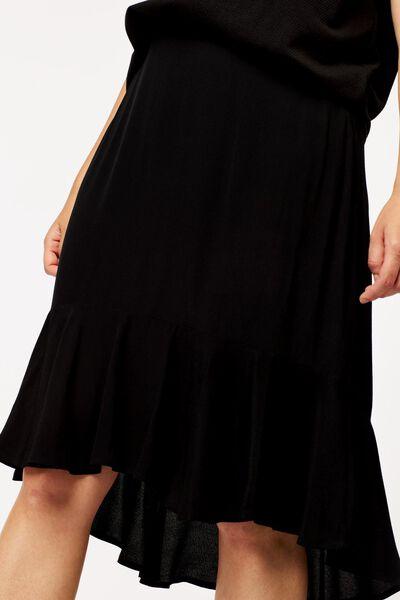 damesrok zwart zwart - 1000024807 - HEMA