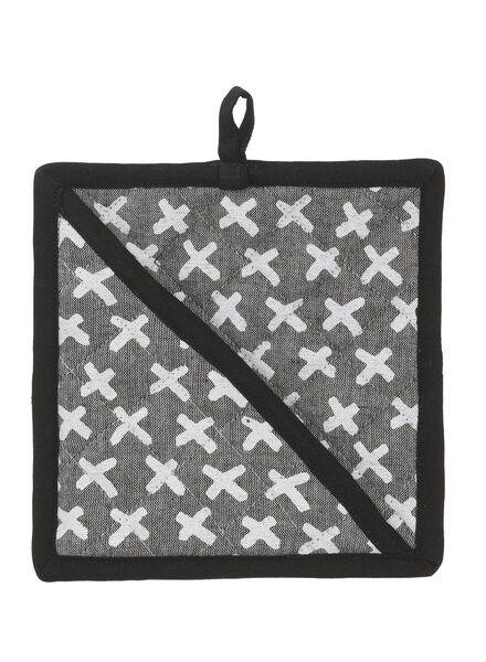 pannenlap - katoen - zwart kruisje - 5470031 - HEMA