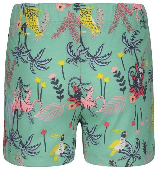 kindershortama met poppenpyjama bamboe jungle aqua 86/92 - 23060851 - HEMA