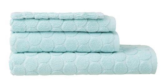 handdoeken - zware kwaliteit - gestipt mintgroen mintgroen - 1000015153 - HEMA