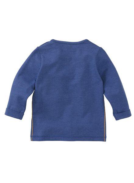 baby t-shirt blauw blauw - 1000008305 - HEMA