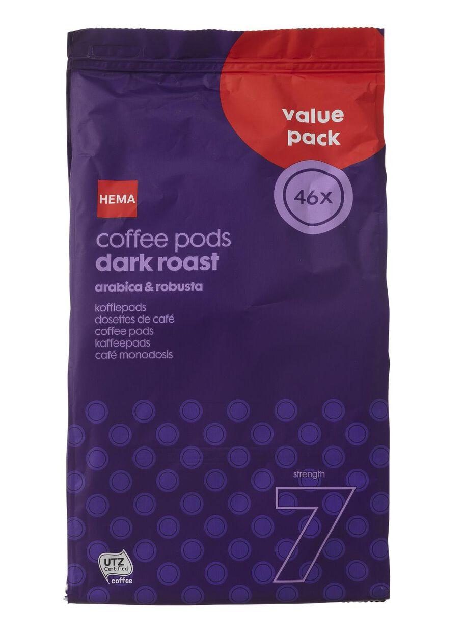 afbeeldingen koffiepads dark roast 46 stuks 17100022 hema