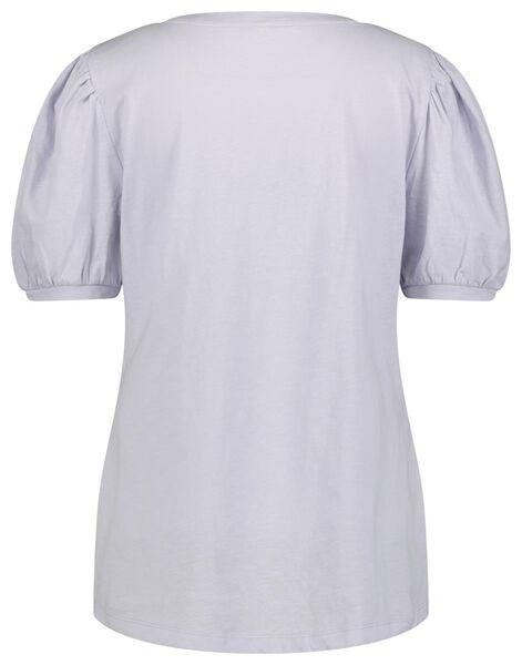 dames t-shirt pofmouw lila lila - 1000023723 - HEMA