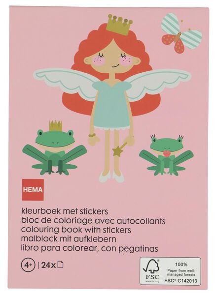 kleurboek met stickers - sprookjes - 15920043 - HEMA
