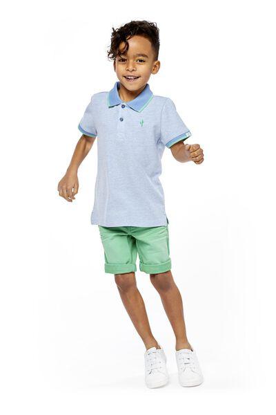 kinder poloshirt blauw blauw - 1000018900 - HEMA